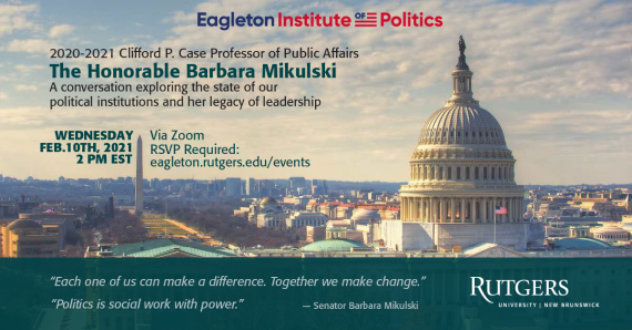 A Conversation with former U.S. Senator Barbara Mikulski