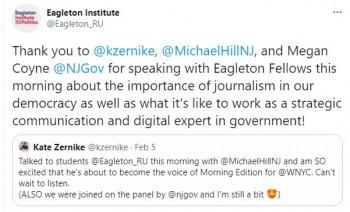 Eagleton Tweet